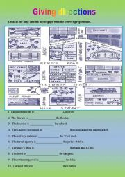English Worksheet: Giving direction