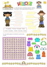 English Worksheets: Fun with clothes