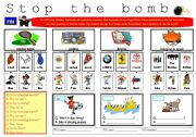 English worksheet: Stop the bomb!