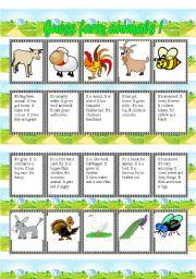 English Worksheet: Guess the farm animal!