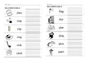English Worksheets: L Blends