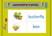 English Worksheets: bugs ( memory cards)