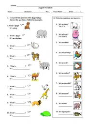 English Worksheets: This and that