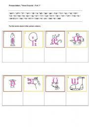 English Worksheets: Pronounciation Exercise