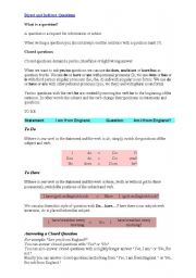 English Worksheets: Indirect and direct questions