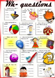 English Worksheet: QUESTIONS (multiple choice)