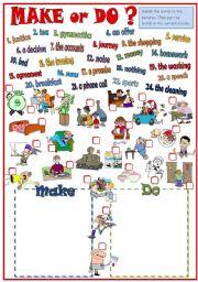 English Worksheets: Make or do?