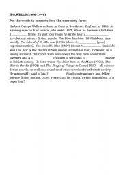 English Worksheets: Herbert Wells