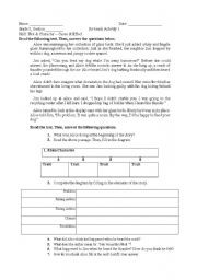 English Worksheet: Plot and Character