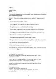 English Worksheet: Quiz on Noun Phrases