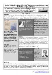 English Worksheets: titanic