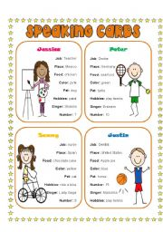 English Worksheet: Speaking cards 1(4)
