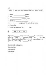 English+Worksheet+for+Primary+1 primary one english english for ...