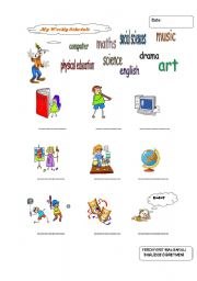 English Worksheet: my weekly schedule...