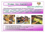 English Worksheets: Time to talk (12): Healthy lifestyle