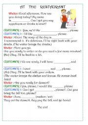 English Worksheet: Orders