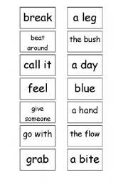 idioms matching game esl worksheet by bouncy me. Black Bedroom Furniture Sets. Home Design Ideas