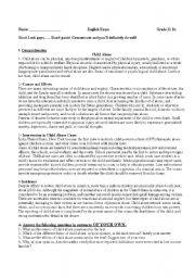 English Worksheets: Child Abuse