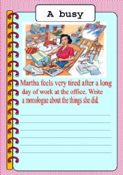 English Worksheets: Abusy Day