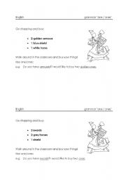 English Worksheet: activity for grammar