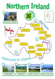 English Worksheet: Northern Ireland:map