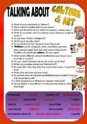 English Worksheets: TALKING ABOUT CULTURE & ART