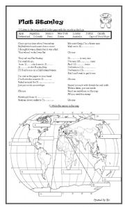 Printables Flat Stanley Worksheets english worksheet flat stanley project handouts