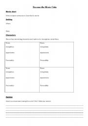 English Worksheets: General Movie Worksheet