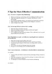 nonverbal interpersonal and textual communication worksheet Communication communication skills emails, blogs, and text messages) • visual remember, non-verbal communication is also critical in an interview employers.