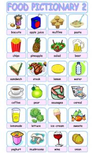 English Worksheet: FOOD PICTIONARY 2