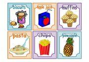 English Worksheet: FOOD: 24 FLASH CARDS! SET 2