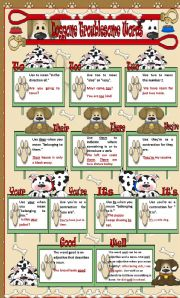 English Worksheets: Worksheet +Poster -