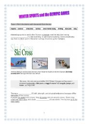 English Worksheets: Winter Sports and the Olympic Games