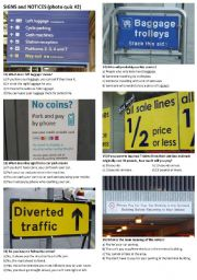 English Worksheets: SIGNS AND NOTICES #2 (10 photos on 2 pages)