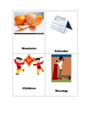 English Worksheet: Chinese Lunar New Year Flash Cards Set 2 of 2