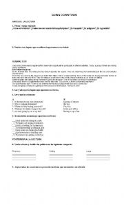 English worksheet: Reading comprehension based on present continuos