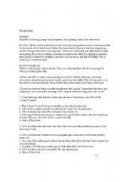 English Worksheets: Paraphrasing