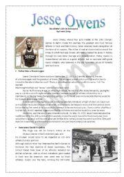 English Worksheets: Jesse Owens