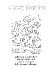 English Worksheets: elephant