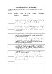 English Worksheet: English Figurative Language