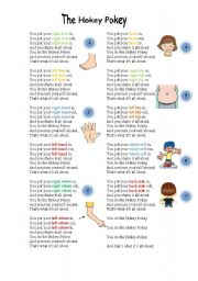 English Worksheets: The hokey pokey song lyrics