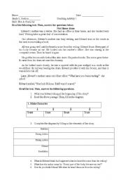 English Worksheet: Character Traits, Plot, and Drawing Conclusions