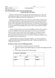 English Worksheets: More reading comprehension