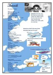 English Worksheet: Aerosmith - Fly away from here