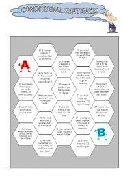 English Worksheet: Conditional Sentences: Board Game