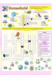 English Worksheet: Household apparatus