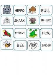English Worksheets: MEMORY GAME LAST PART 3
