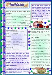 Present Perfect Practice – rules, examples and exercises [8 tasks] KEYS INCLUDED ((4 pages)) ***editable