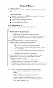 Participial Phrases Worksheet | ABITLIKETHIS
