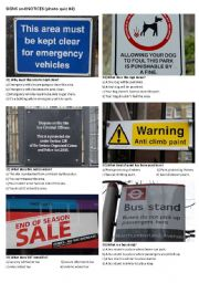 SIGNS AND NOTICES #4 (10 photos on 2 pages)